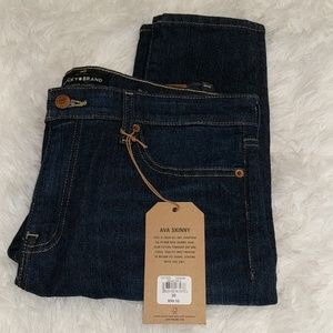 NWT Lucky Brand Ava Skinny Jeans sz 10 Mid Rise
